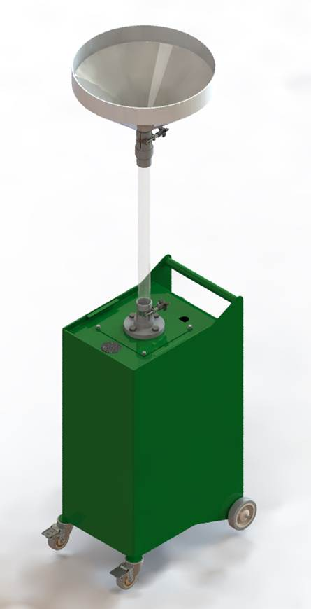 Test Shower Cart in the Extended Position