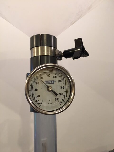 pipe with gauge attached.